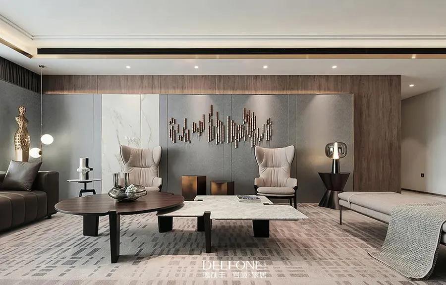 DELFONE案例分享| 岩板成就轻奢优雅的高定家居!
